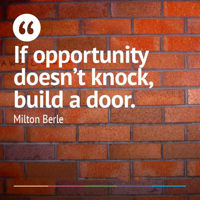 Facebook Poste image quotes Milton Berle