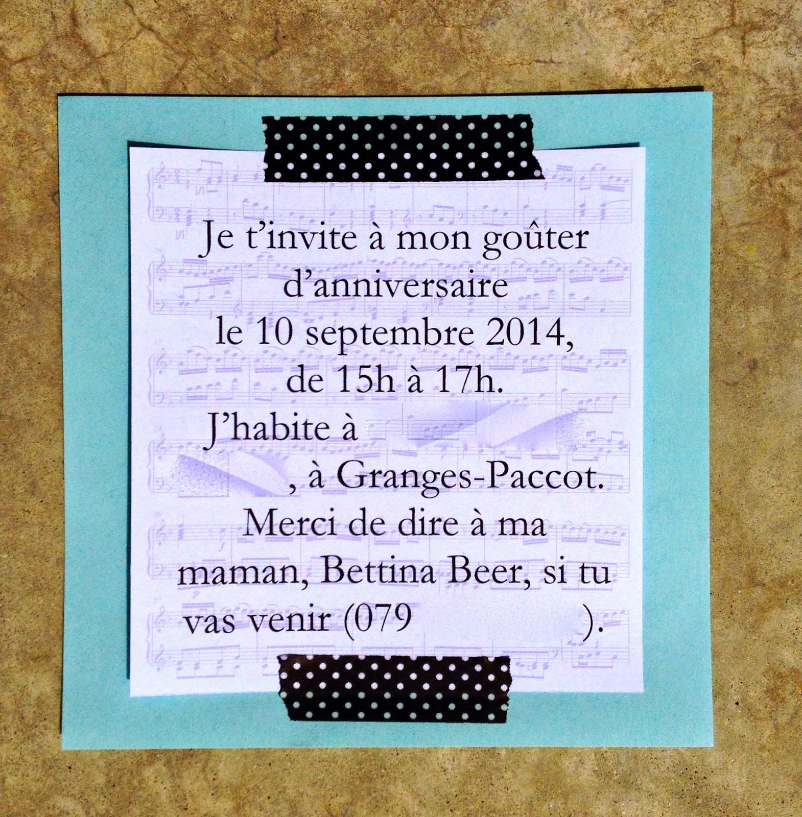 invitation go ter d 39 anniversaire th me musique music birthday party invitation. Black Bedroom Furniture Sets. Home Design Ideas