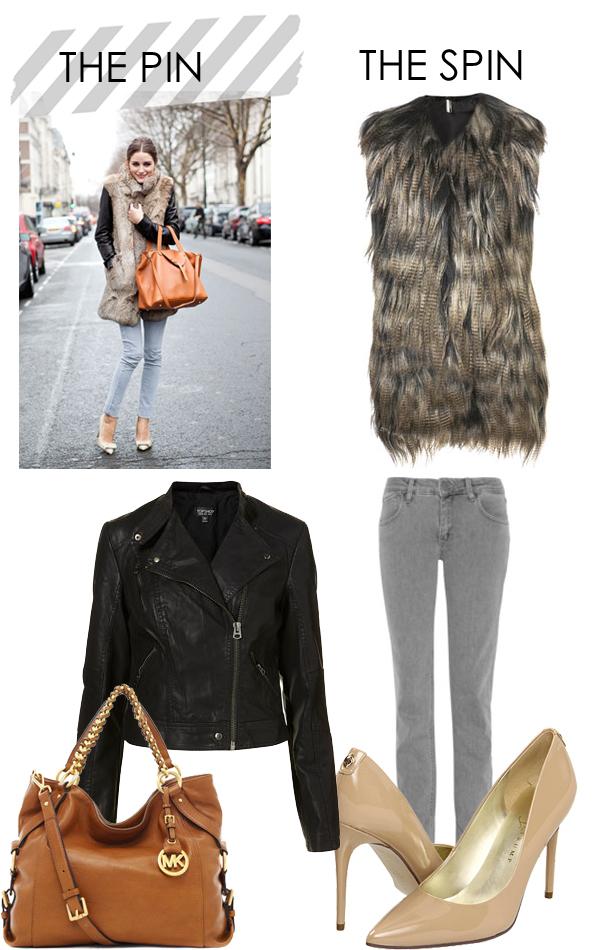 Olivia Palermo Fashion, Olivia Palermo Fur Vest, Olivia Palermo Hair