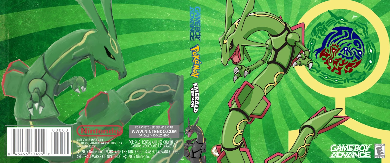 Capa Pokemon Esmerald Version Gameboy Advance