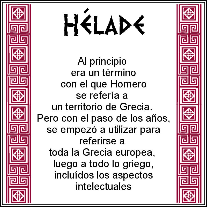 Definición de Hélade