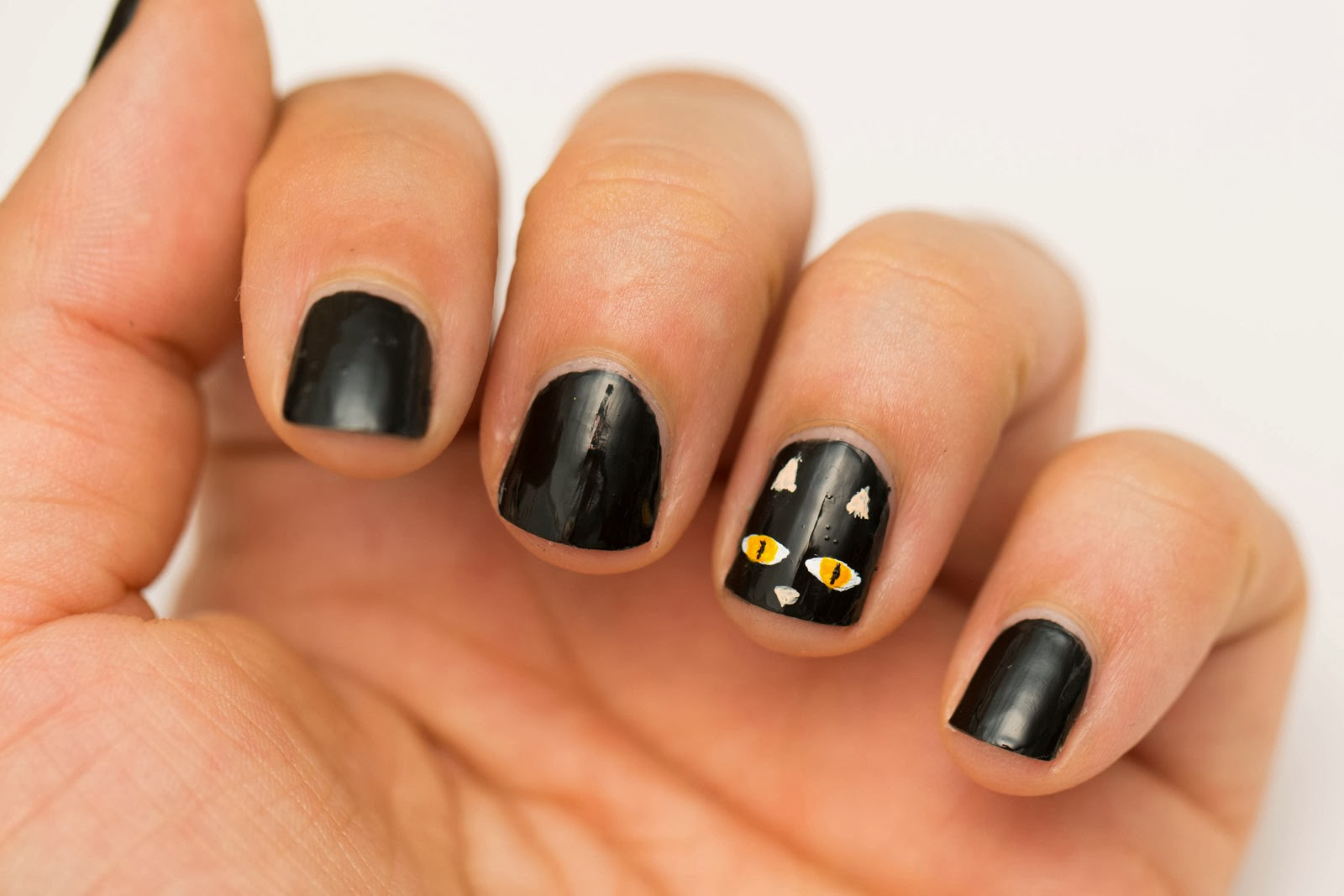 Beauty by arielle quick and easy halloween nail art for for Decoracion de halloween