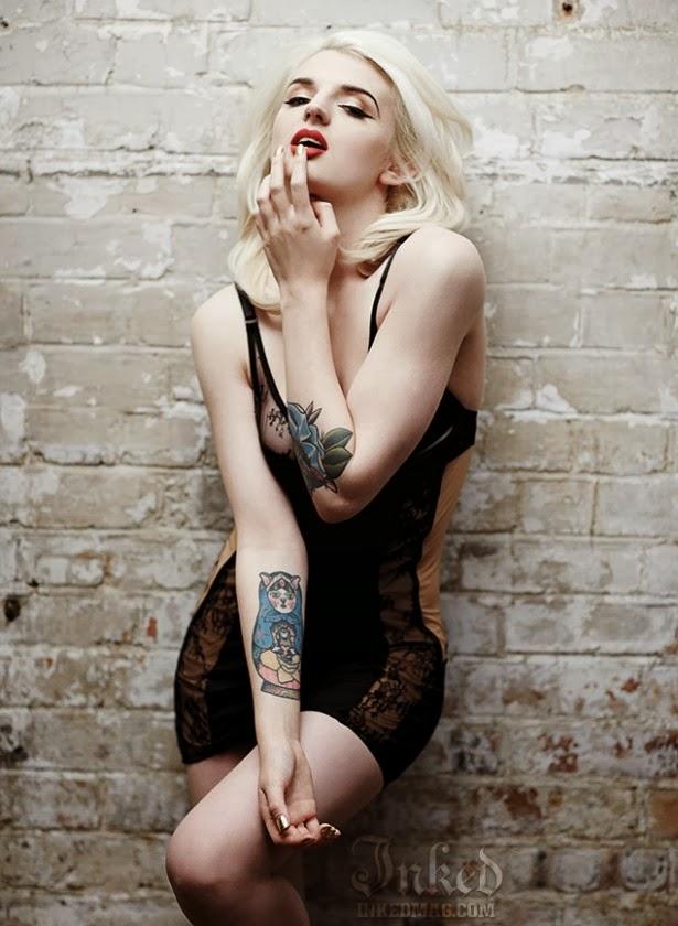 Katrina Darling posa para Inked Magazine