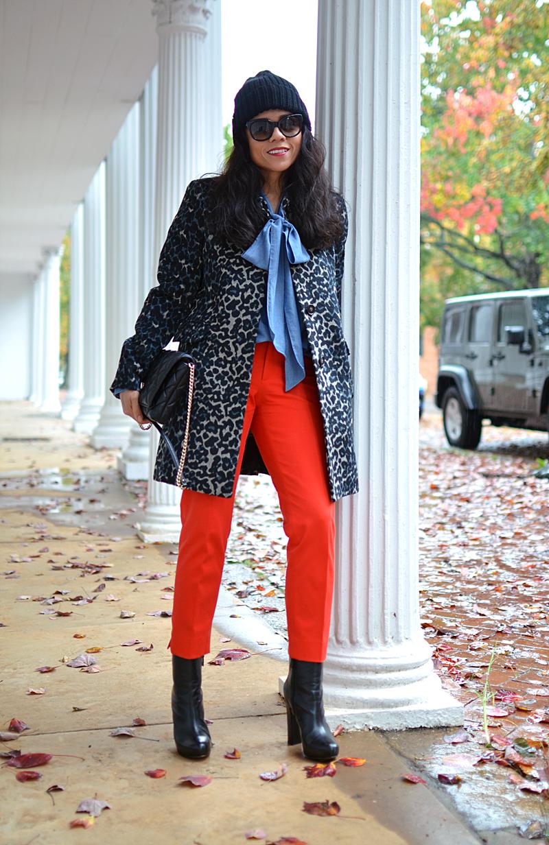 Leopard coat street style