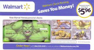 Marvel Heroes checks at Walmart flyer