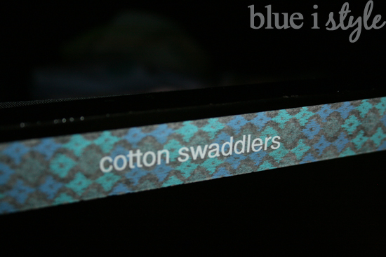 washi tape labels on drawers