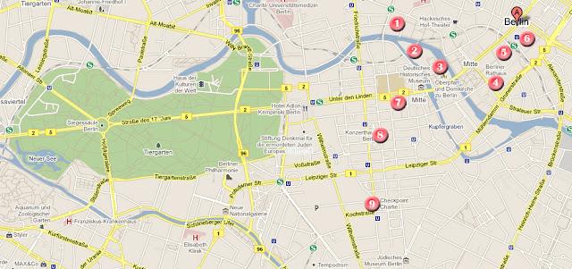 Mapa ruta dia 2 por Berlin