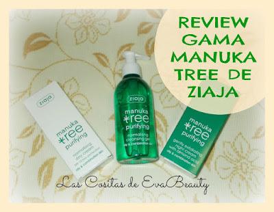 Review Gama Manuka Tree Purifying de Ziaja pieles grasas y mixtas (Crema de día, crema de noche y gel limpiador)