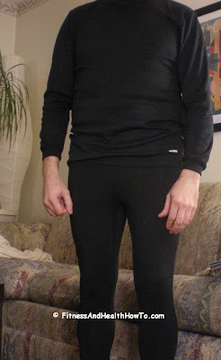 A thermal shirt and pants worn under a sweatshirt and sweatpants can make your cold weather run more bearable.