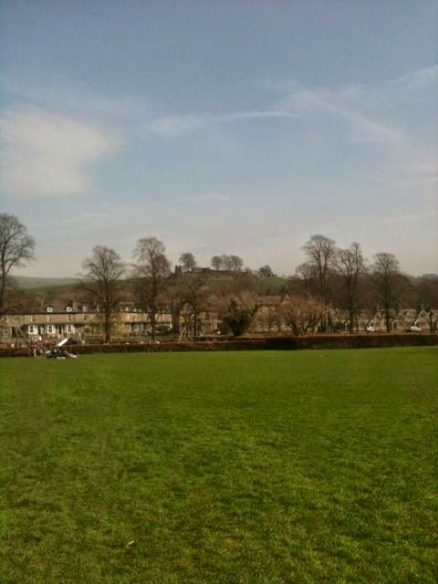 Kendal castle from Abbott Hall park