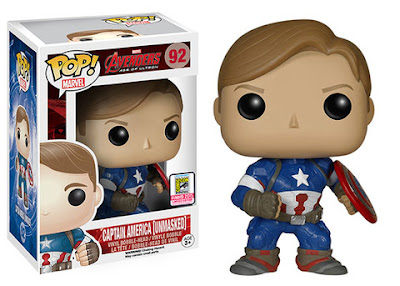 "San Diego Comic-Con 2015 Exclusive Avengers: Age of Ultron ""Unmasked"" Captain America Pop! Marvel Vinyl Figure by Funko"