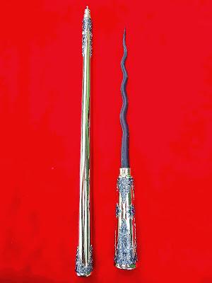 kerajaan keris, Pusaka Bung Karno, Legenda Tongkat Bung Karno, Asli Kuno, Tombak Cacing kanil Kuno.