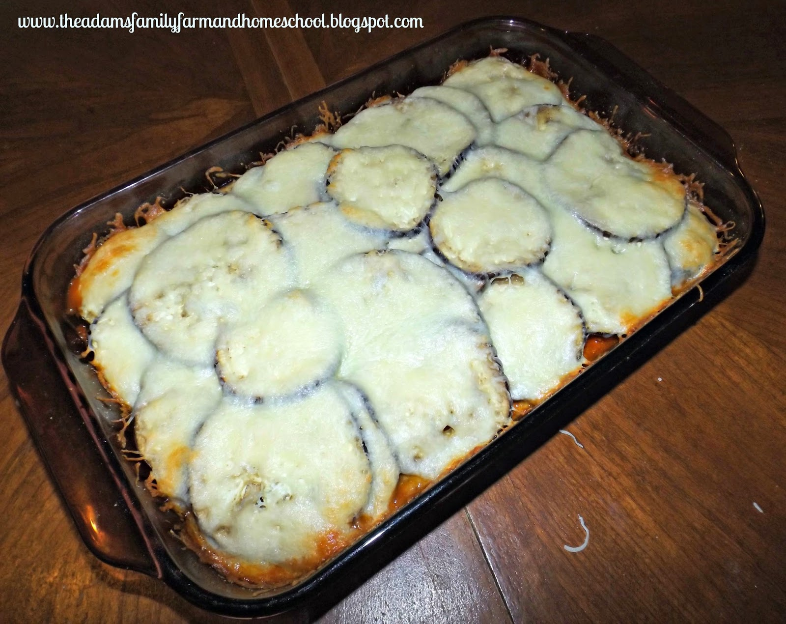 Eggplant Lasagna Ready to Serve