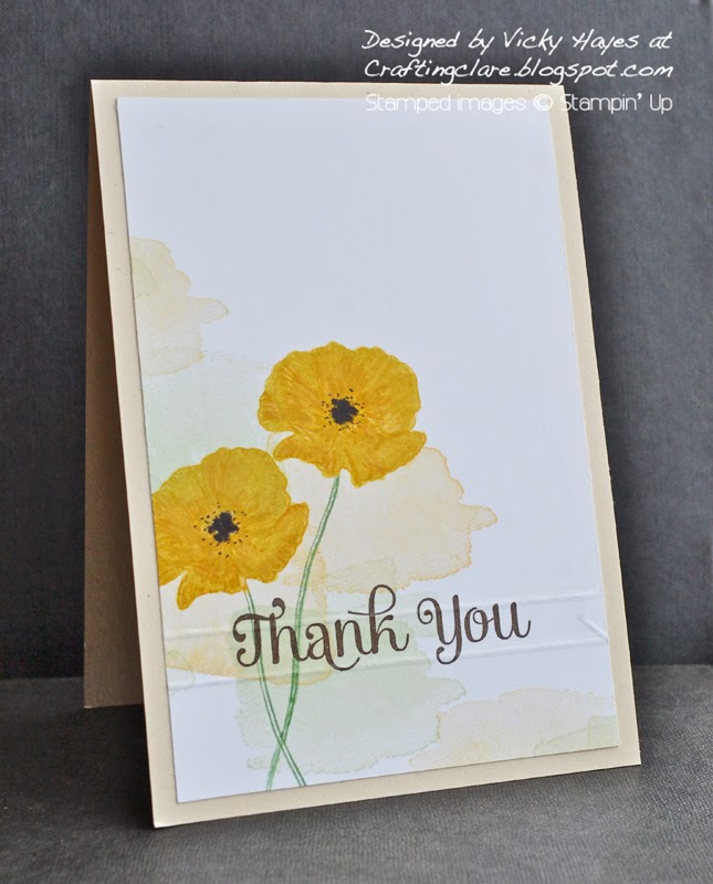 Vicky from Crafting Clare demonstrates Happy Watercolour from Stampin' Up