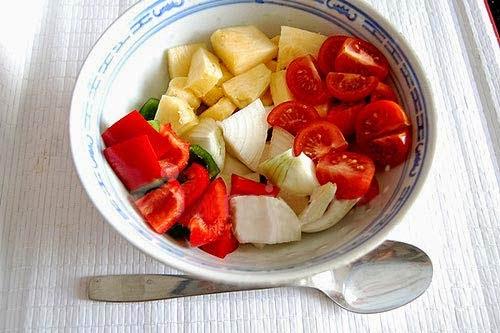 Món gà xào chua ngọt rau củ đổi món ăn là ghiền2