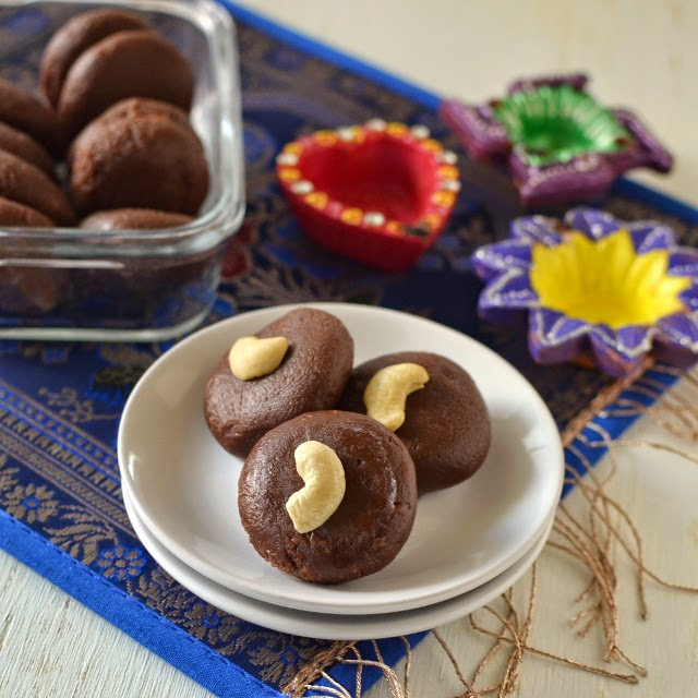 Chocolate Peda using Ricotta Cheese