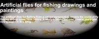 Pinturas y dibujos de moscas artificiales para la pesca