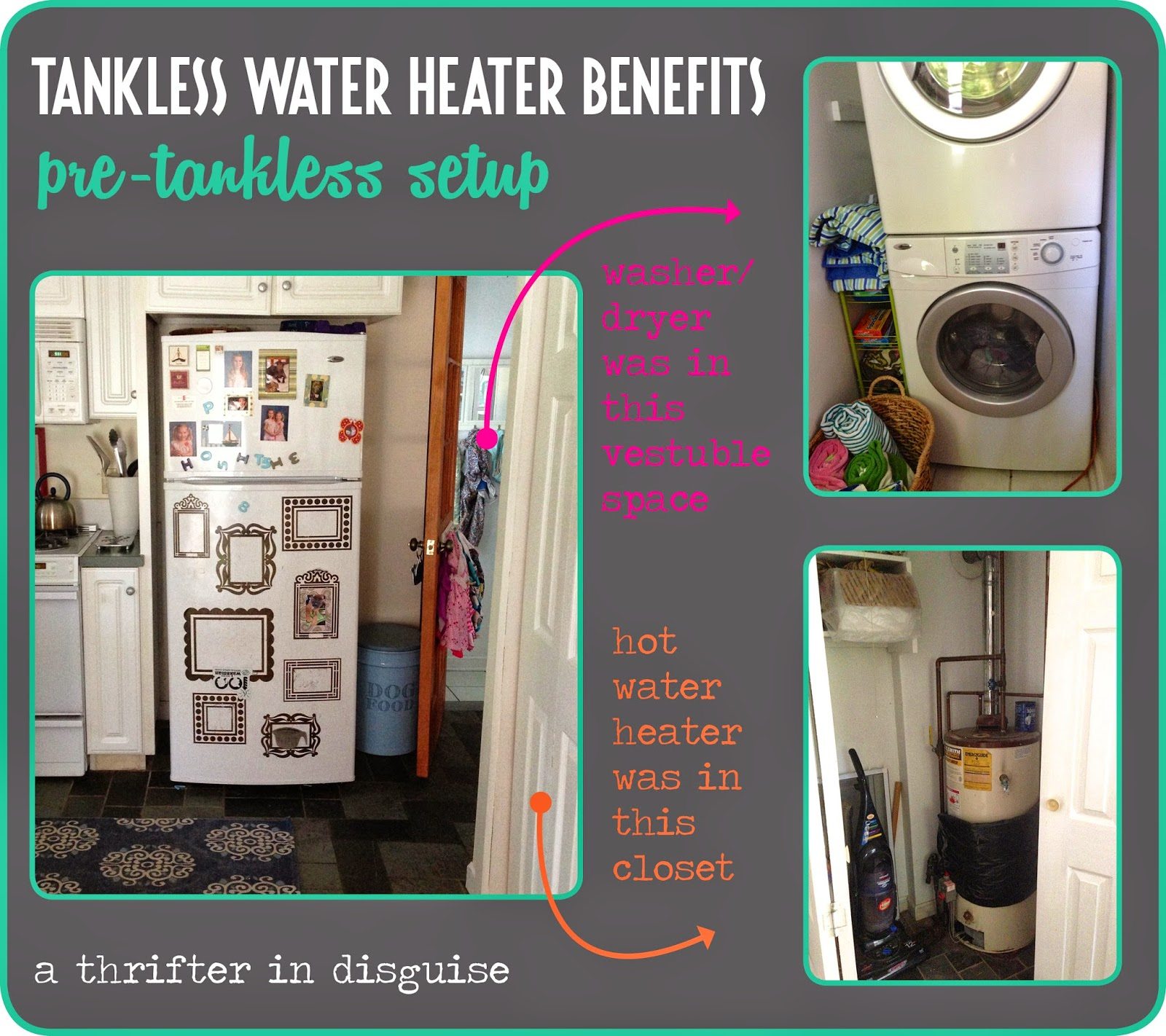water into weston closet pantry open turned heater courtney shelved
