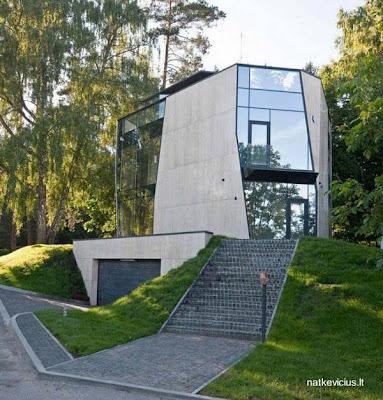 Casa residencial contemporánea vanguardista en Lituania