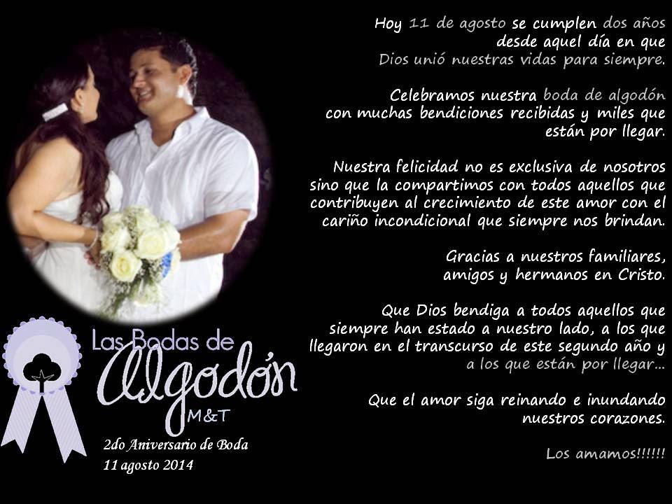 Matrimonio Catolico Resumen : Gracias señor por estos dos años de matrimonio