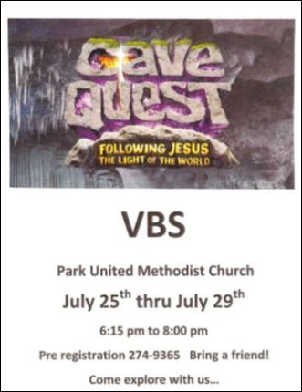 7-25/26/27/28/29 Park Church VBS