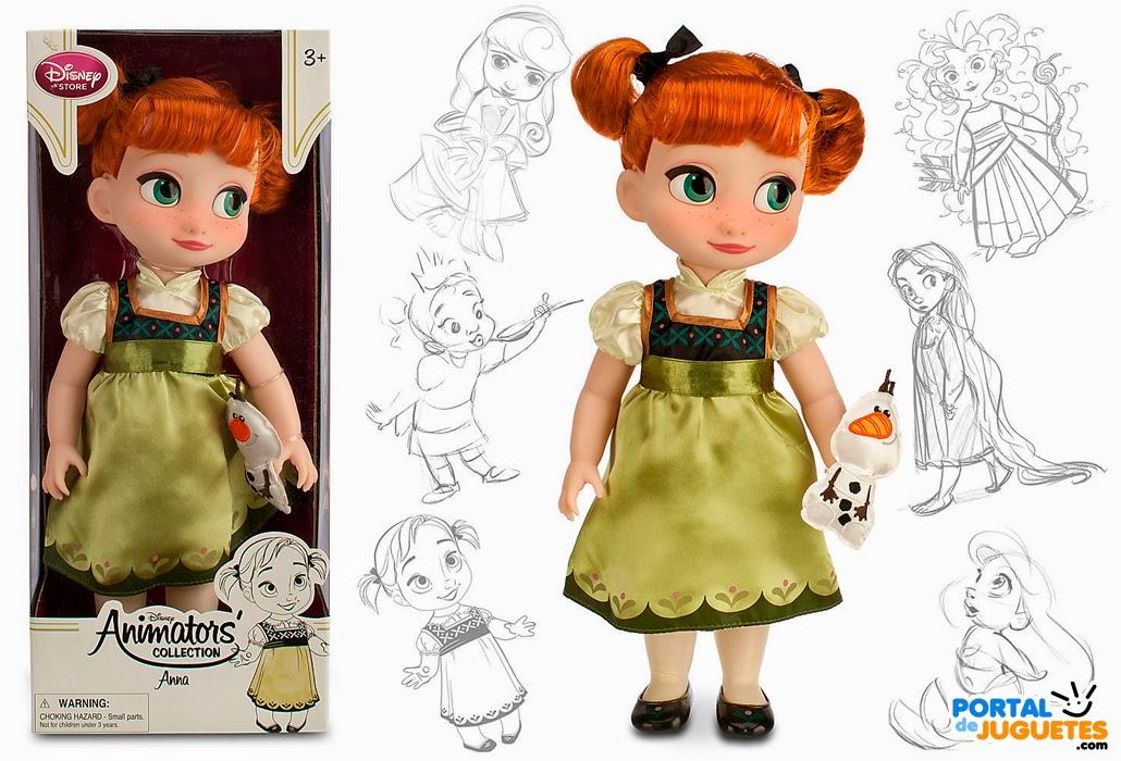 muñeca anna segunda edicion coleccion disney animators frozen mascota caja