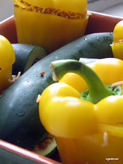 Peppers, Zucchinis and rice by ng @ What's for Dinner?