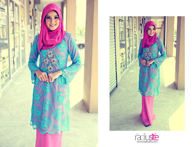 Baju kurung lace ni pon cantikbut the combination colour is what i