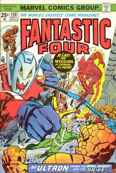 Fantastic Four #150, Ultron and the wedding of Quicksilver and Crystal