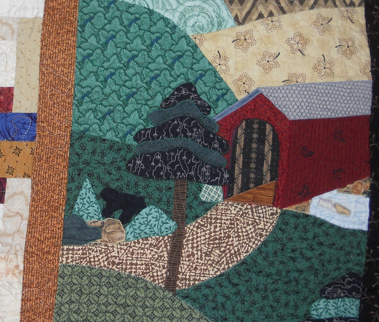 Very Impressive portraiture of Log Cabin Quilter: MY SPECIAL QUILT with #6C3430 color and 1600x1362 pixels