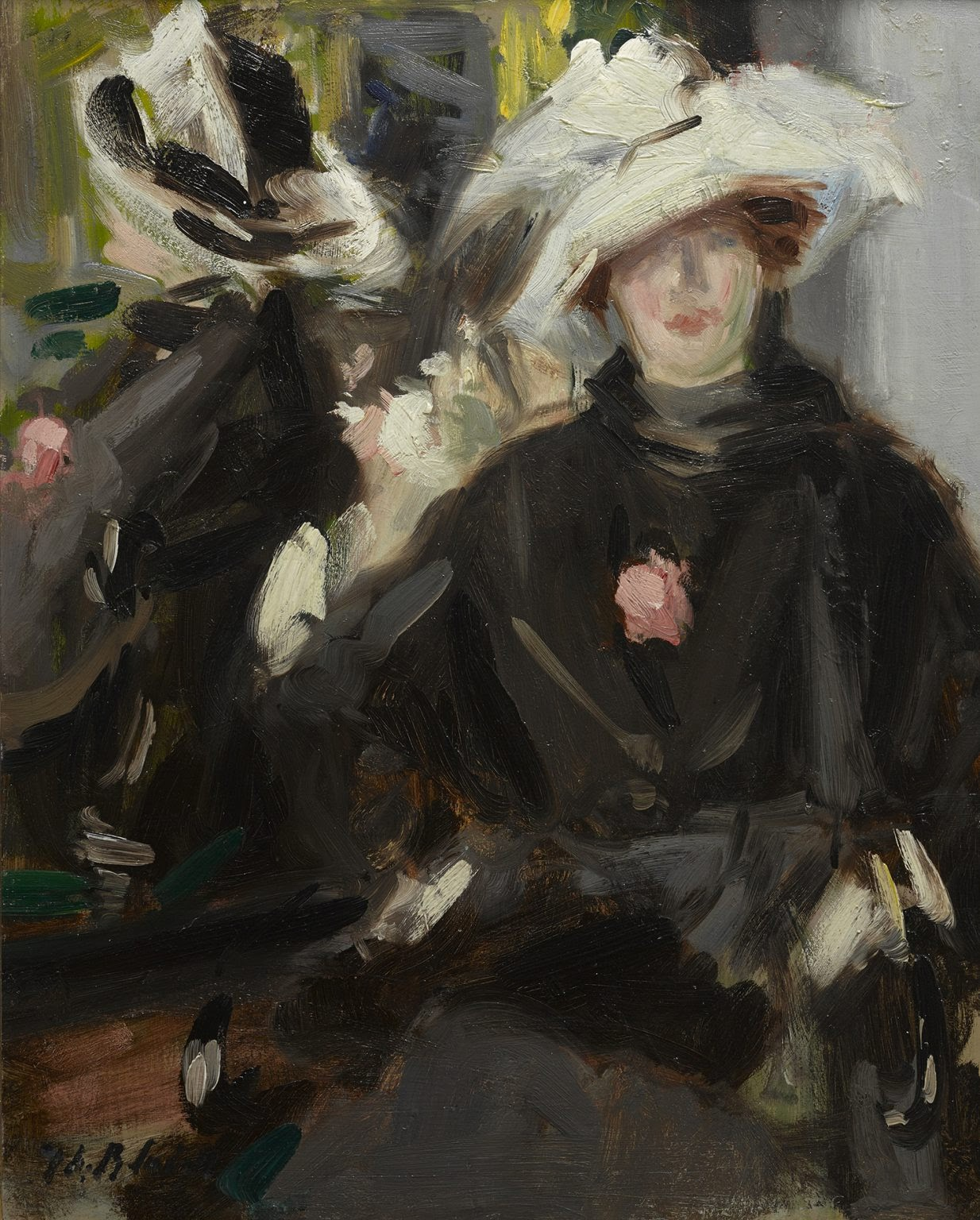 Francis Cadell The Feathered Hat  The Fleming Collection
