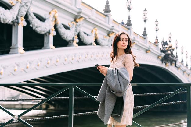 coco and vera, top paris fashion blog, iheartparis.fr photography, paris street style, pont alexandre III, needle and thread dress, zara coat, spring fashion