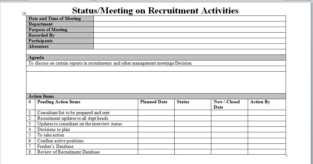 recruitment process report