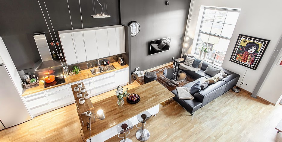 Un loft su due livelli coffee break the italian way of for Moderni progetti di case su due livelli
