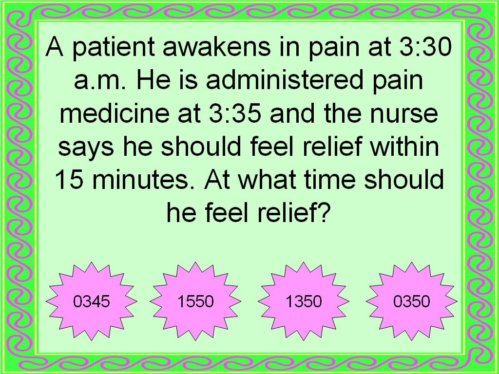 Student Survive 2 Thrive: Free Practice Test: Military Time and ...