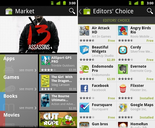 android market free games download to pc