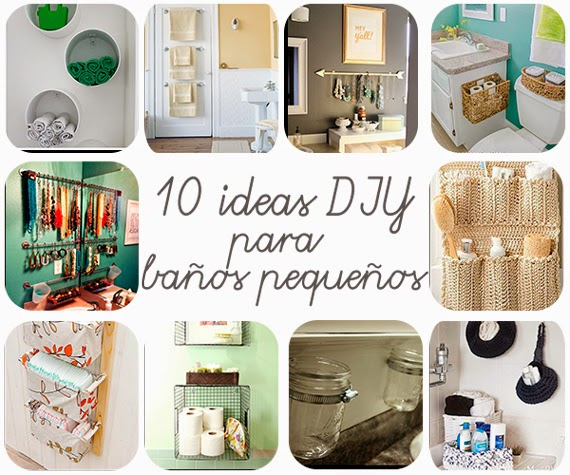 Ideas Decoracion Diy ~ 10 ideas DIY para ba?os peque?os Decoraci?n  Cuartos de ba?o