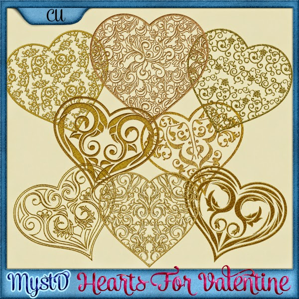 Hearts For Valentine CU