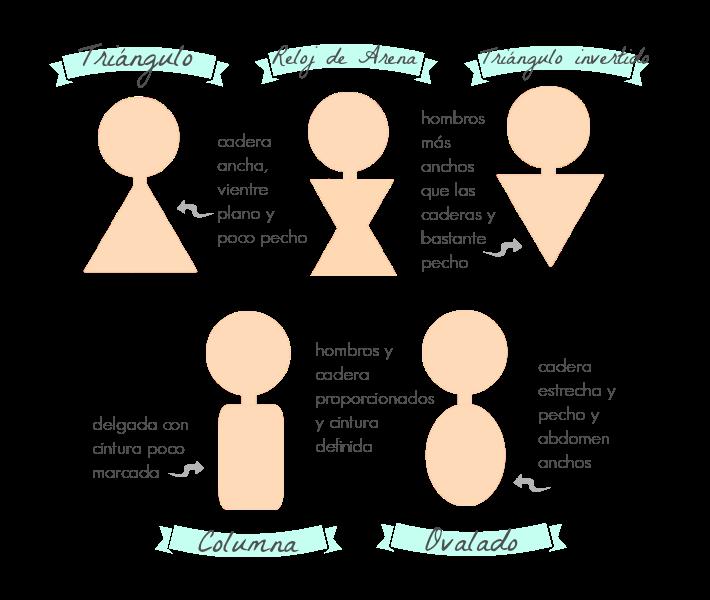 tipos de siluetas femeninas