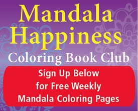 Mandala Happiness Coloring Book Club