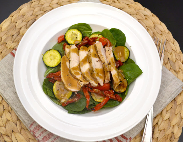 roasted vegetable salad with chicken recipe