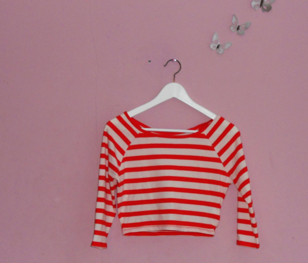 Summer Fashion Haul New Yorker Stripe Crop Top