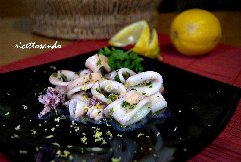 Calamari limone e zenzero ricetta antipasti e gli auguri per Natale 2014