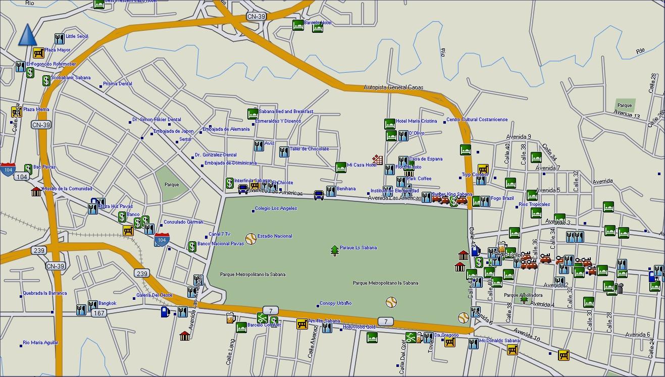 GPSTravelMapscom San Jose Costa Rica Map