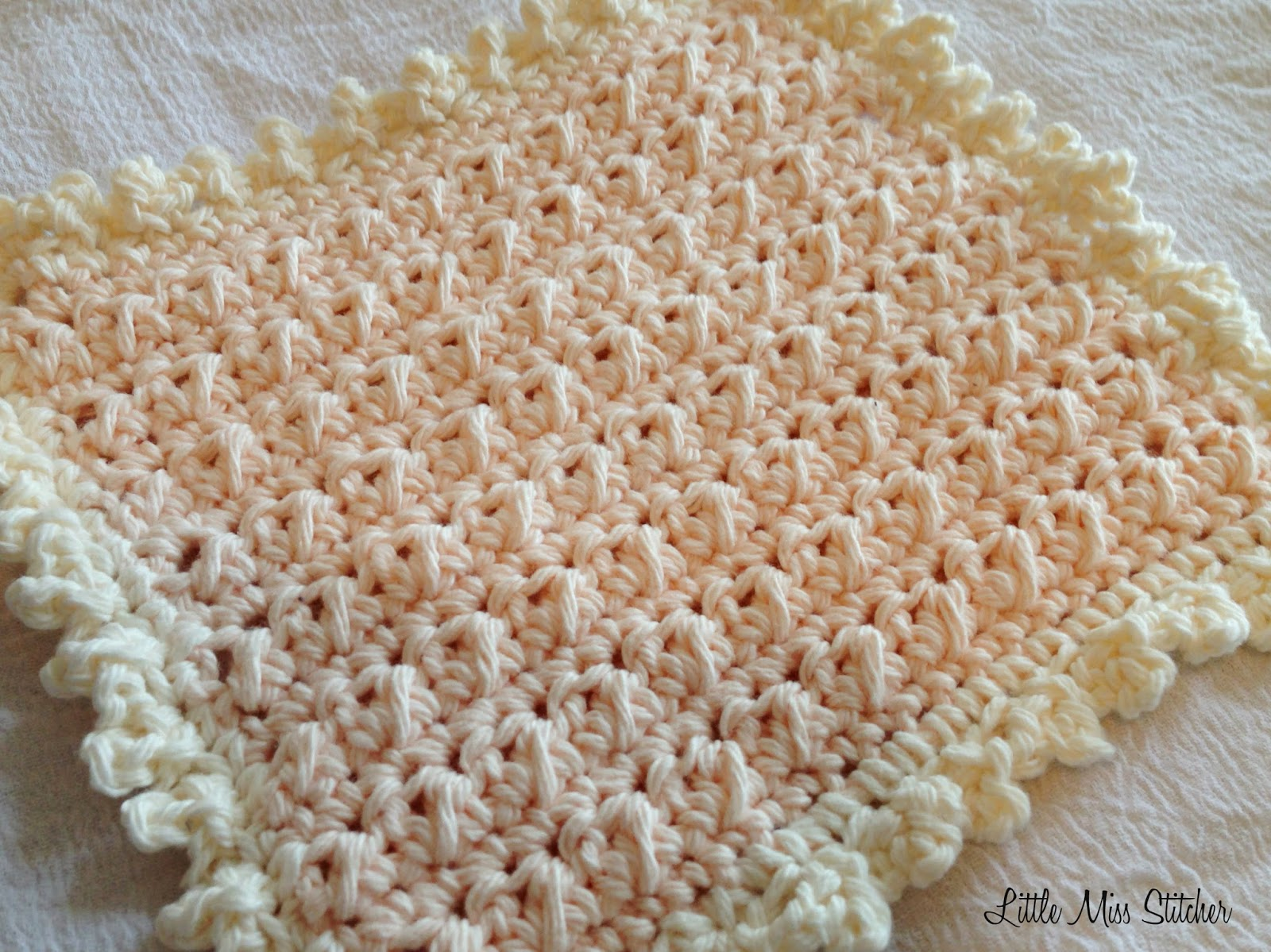 Little Miss Stitcher: 5 Free Crochet Dishcloth Patterns