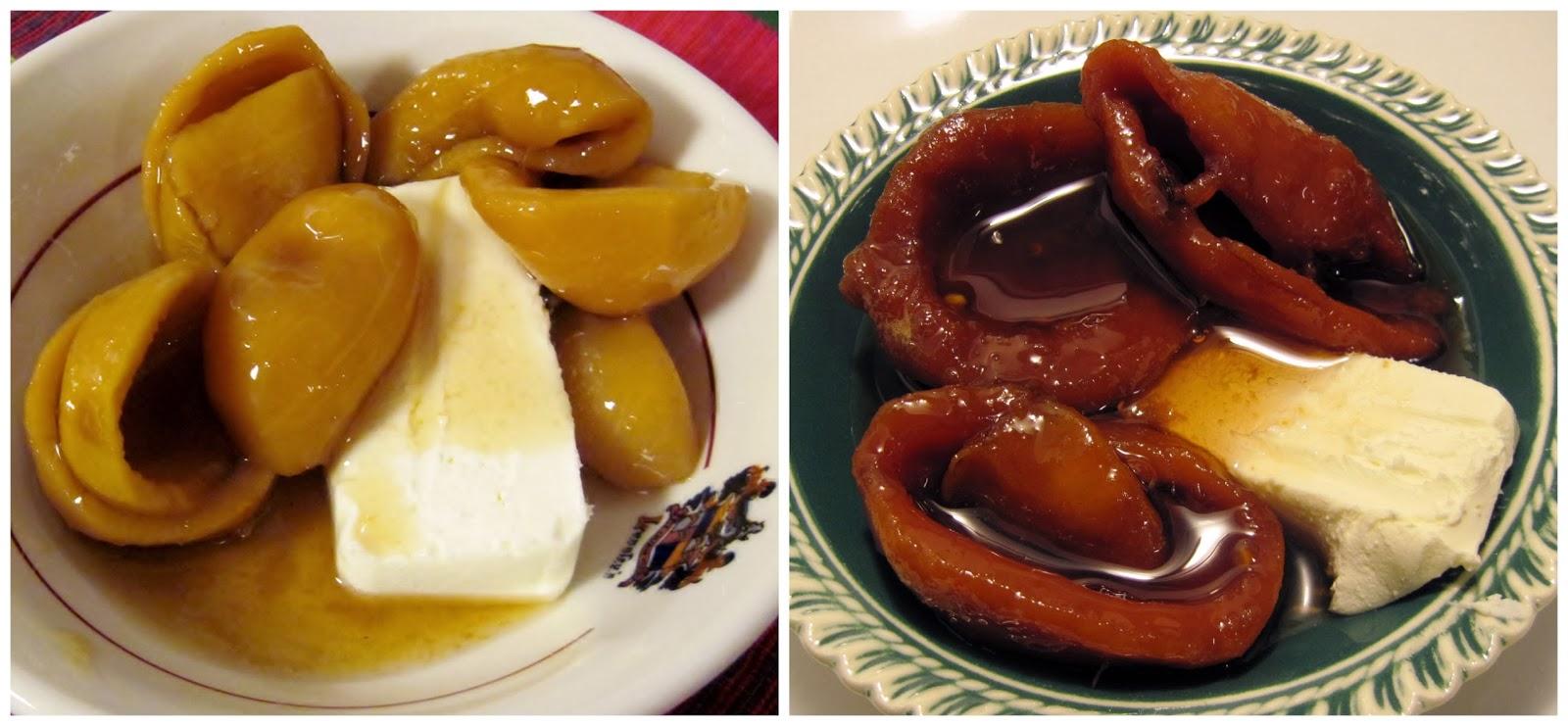 Cascos de guayaba con queso crema