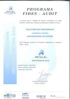 Certificado SGC do Centro. Programa FIDES-AUDIT