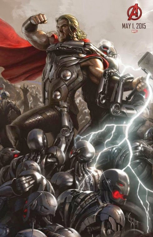 San Diego Comic-Con 2014 Exclusive Avengers: Age of Ultron Concept Art Movie Posters by Marvel - Chris Hemsworth as Thor