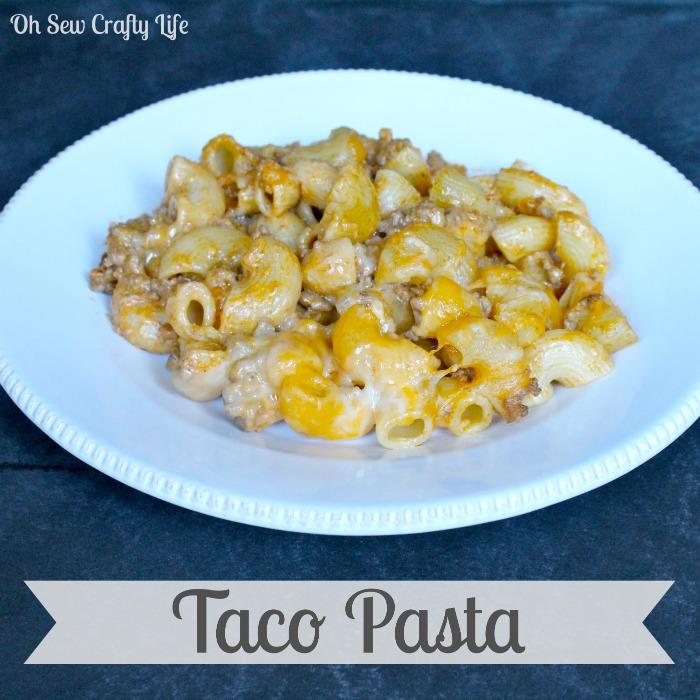 Taco Pasta {A Family Favorite} | Crafty Mom Blog