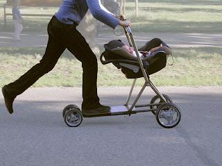 اختراعات مضحكة - عربة اطفال هايبرد
